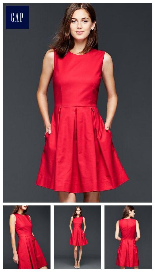 05986e2f2cd Classic fit   flare dress in modern red