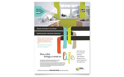 House Painter Flyer Template Layout Pinterest Paint prices - flyer format word
