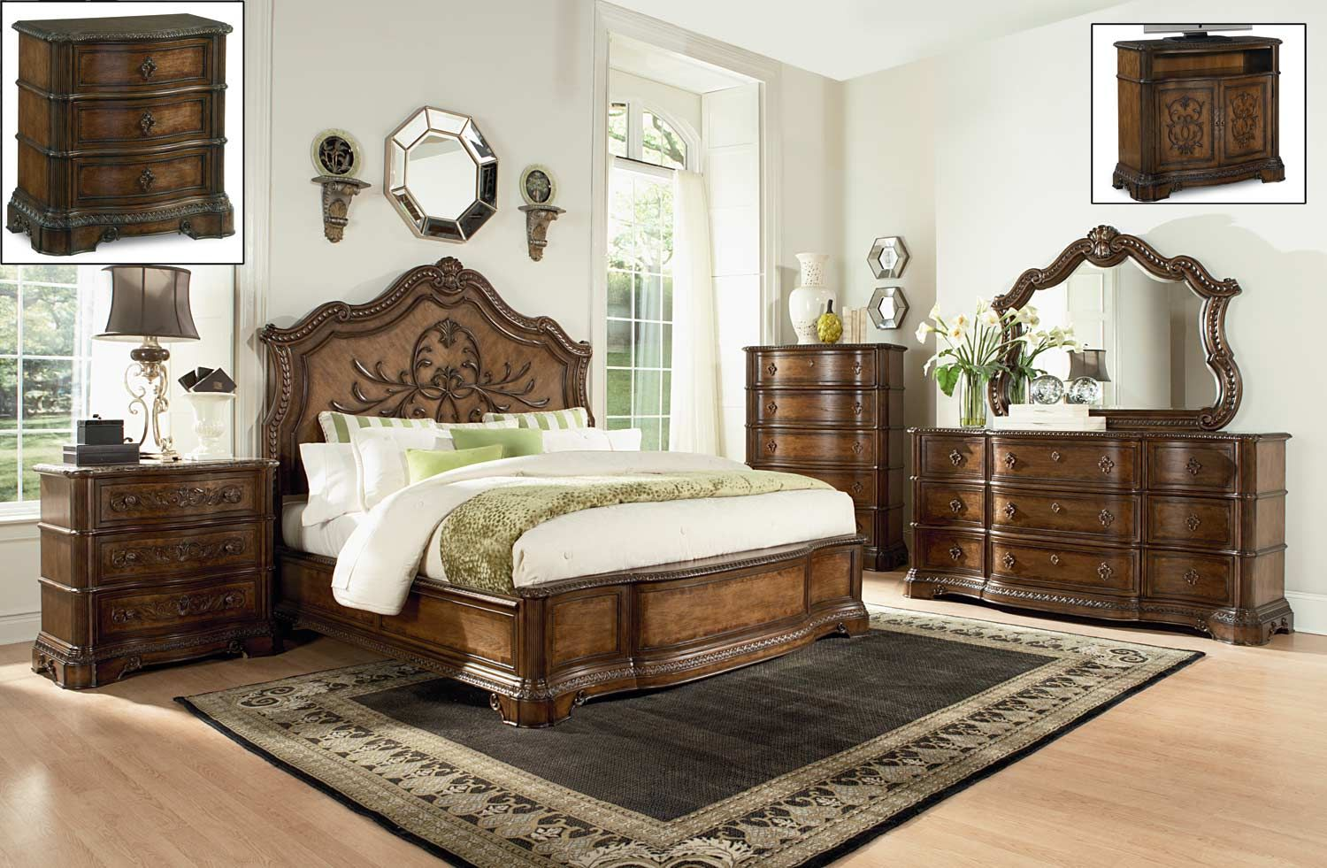 Legacy Classic Pemberleigh Panel Bedroom Set - Brandy/Burnished