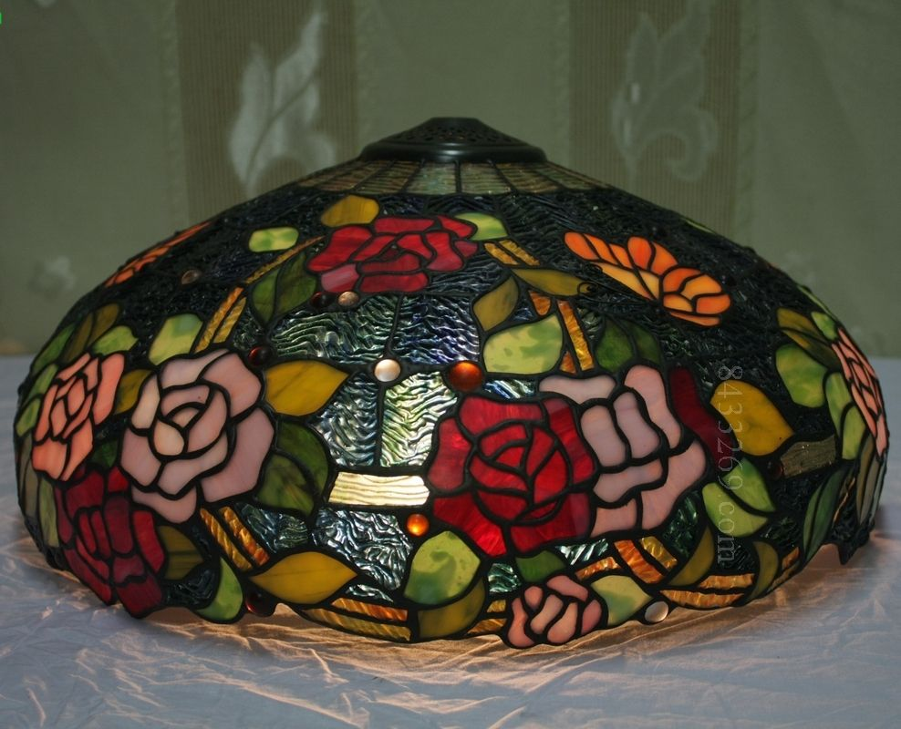 Rose Tiffany Lamp 18S0-237