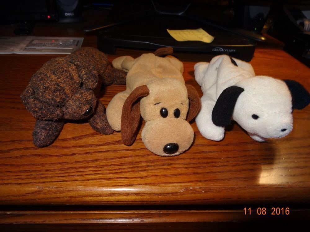 d28cc3dee0d TY Beanie Babies Baby Dog Lot 3 Fetcher