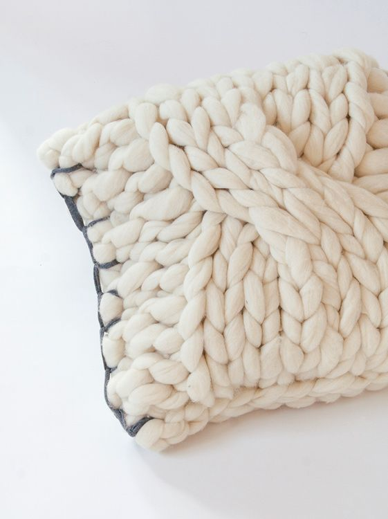 Square Cushion. Charcoal grey-Cable.   Knittingnoodles   Knitting ...