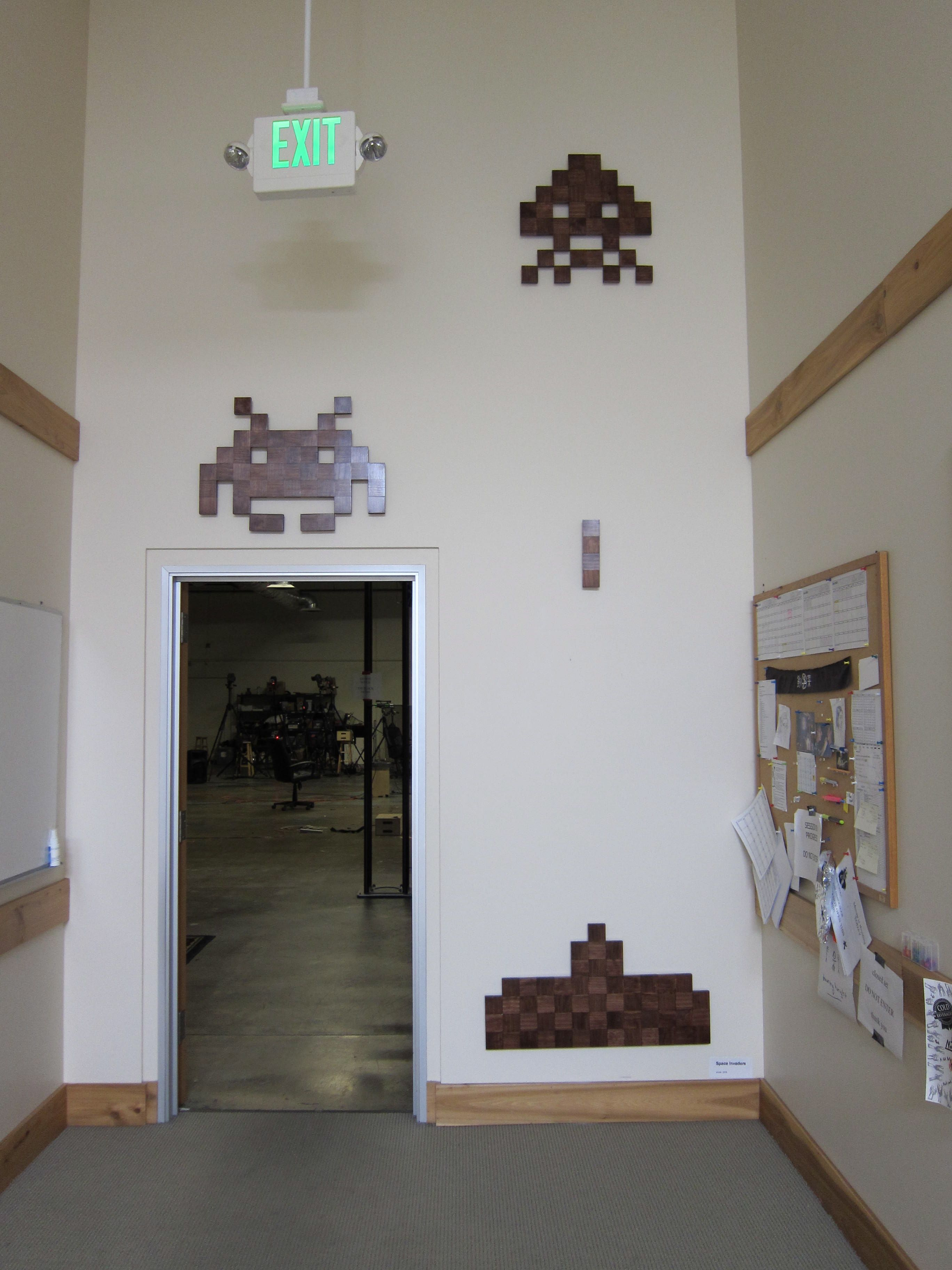Space Invaders on wall | For the Home | Pinterest | Space invaders