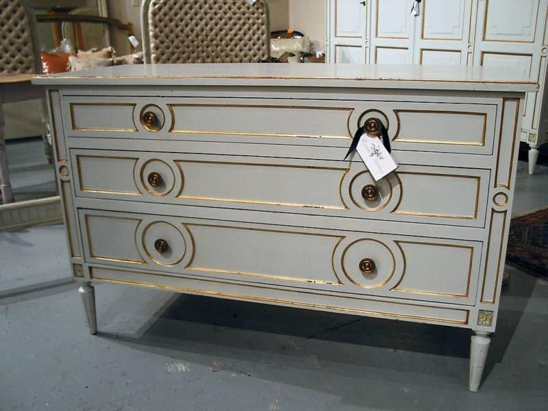 Beautiful Swedish Blue Grey Painted Chest Of Drawers Ebay Seller Flourish Interiors