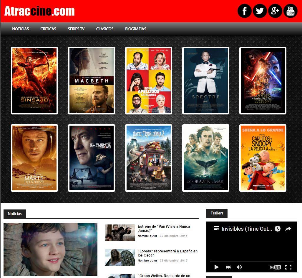 Propuesta para web de cine