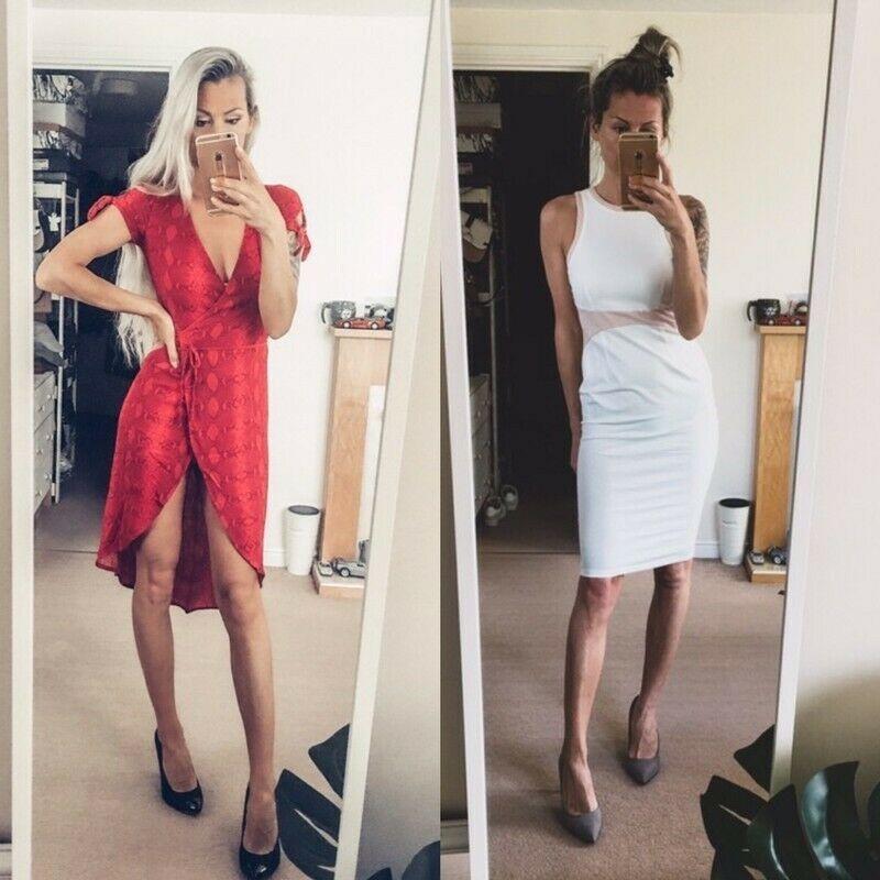 My eBay: Active #dress #reddress #bodycondress #wrapdress