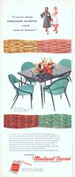 Masland Duran Vinyl Virtue Bros Table 1956 Ad Picture
