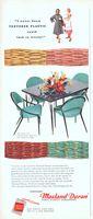 Masland Duran Vinyl Virtue Bros Table 1956 Ad Picture
