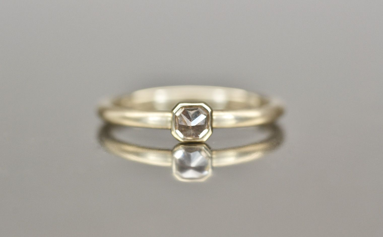 820cf0beab739c Beige Gold Diamond Iceberg Ring-Sunset | Rhonda's Rings | Rings ...