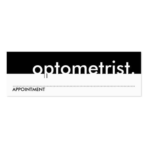Optometrist appointment card optometrist business cards business cards optometrist appointment card colourmoves