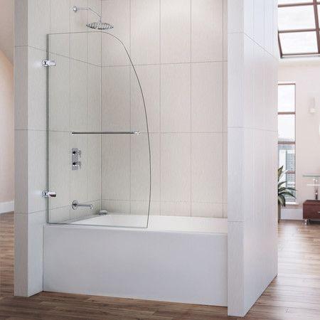 The Aqua Uno Tub Door Is A Single Panel Swing Door With European