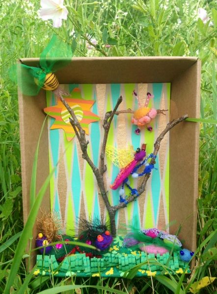 Craft Bug Dioramas With Images Insect Art Projects Recycled