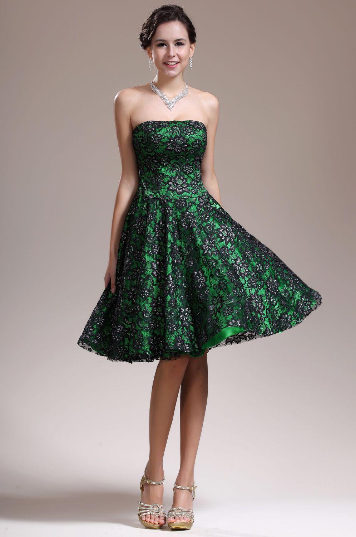 Gorgeous green prom dress  USD  eDressit New Gorgeous Strapless Overlace Cocktail Dress