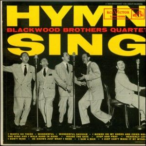 """""""Hymn Sing"""" is one of the many Blackwood Brothers albums that Elvis. Elvis' personal record ..."""
