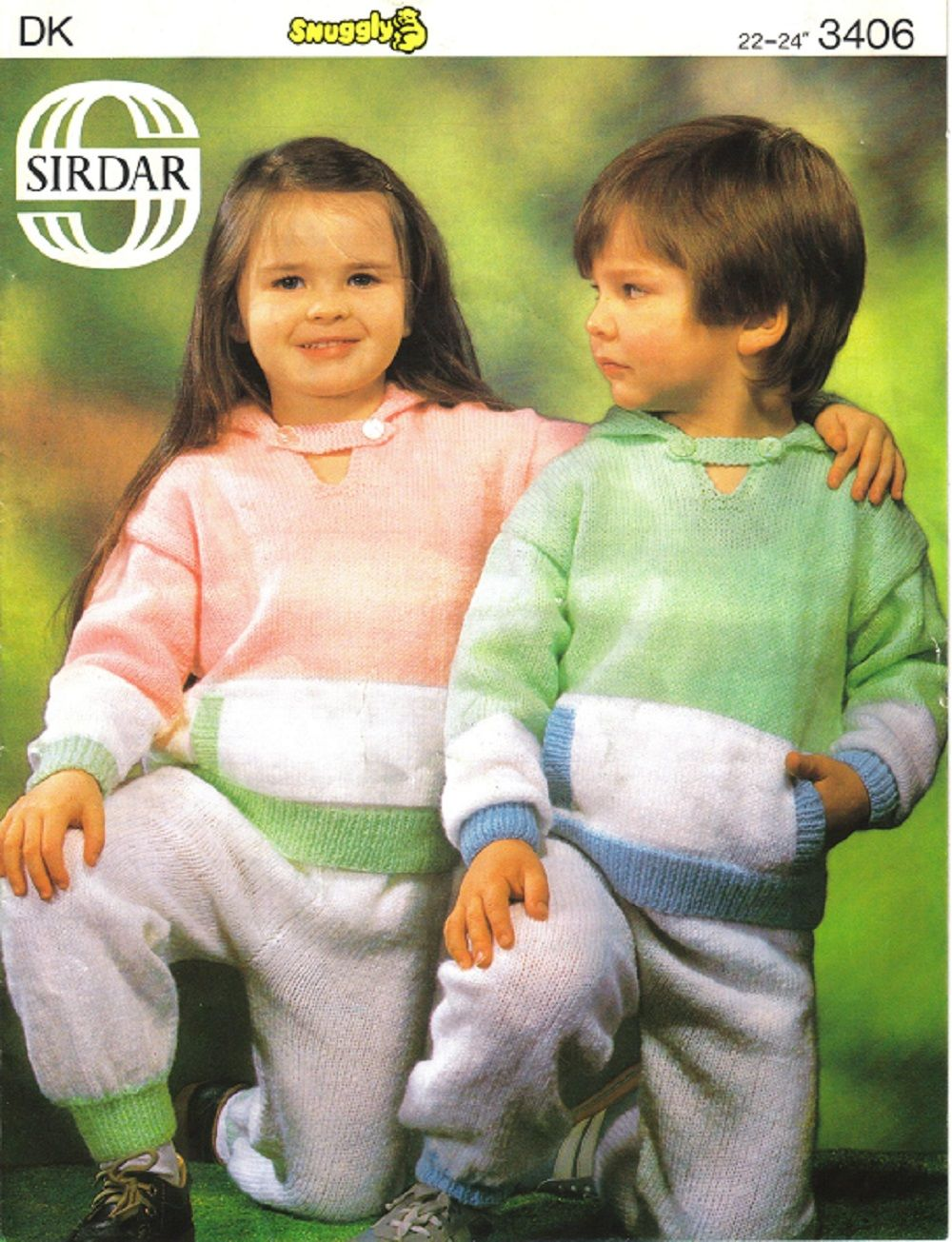 Sirdar knitting pattern 3406 childrens play suit sweater with sirdar knitting pattern 3406 childrens play suit sweater with hood trousers bankloansurffo Image collections