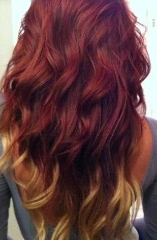 Annnnd this is what my hair color will be next week :) Dark red/blonde ombre!!!!!