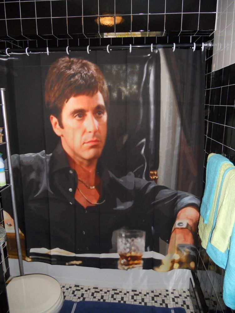 Scarface The World Is Yours Shower Curtain Al Pacino Brian Dipalma Sallyandmitch Yourchoice