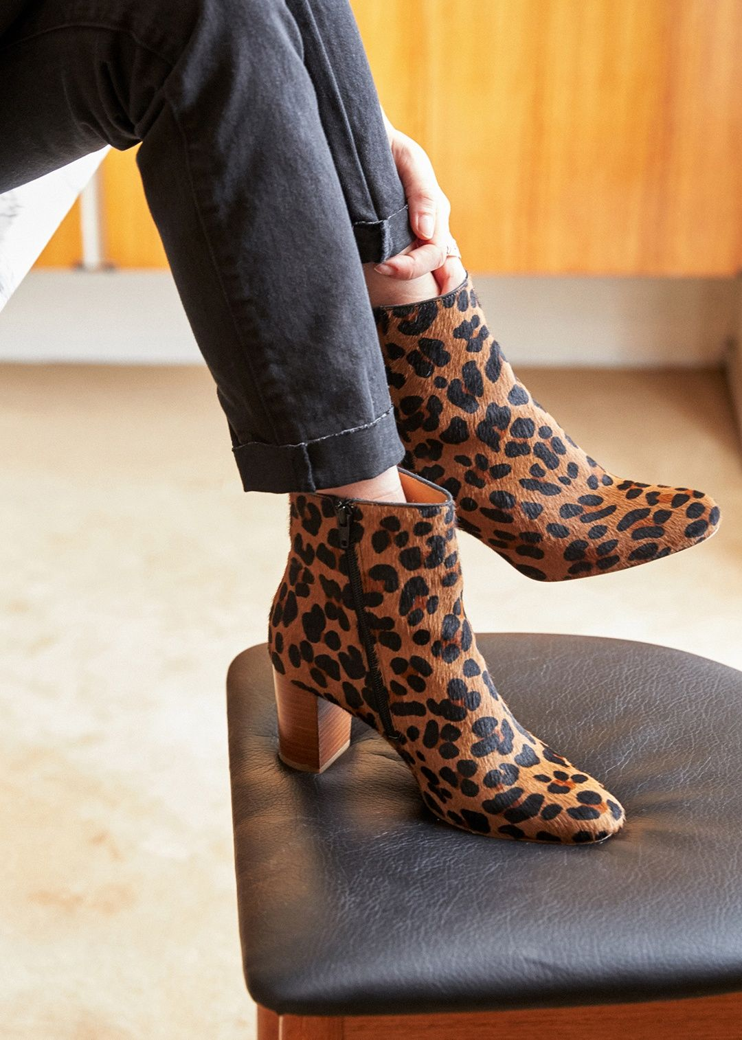 96f1a0ff2c9a Sezane Lea Boots in leopard | Winter inspo | Boots, Fashion, Shoes