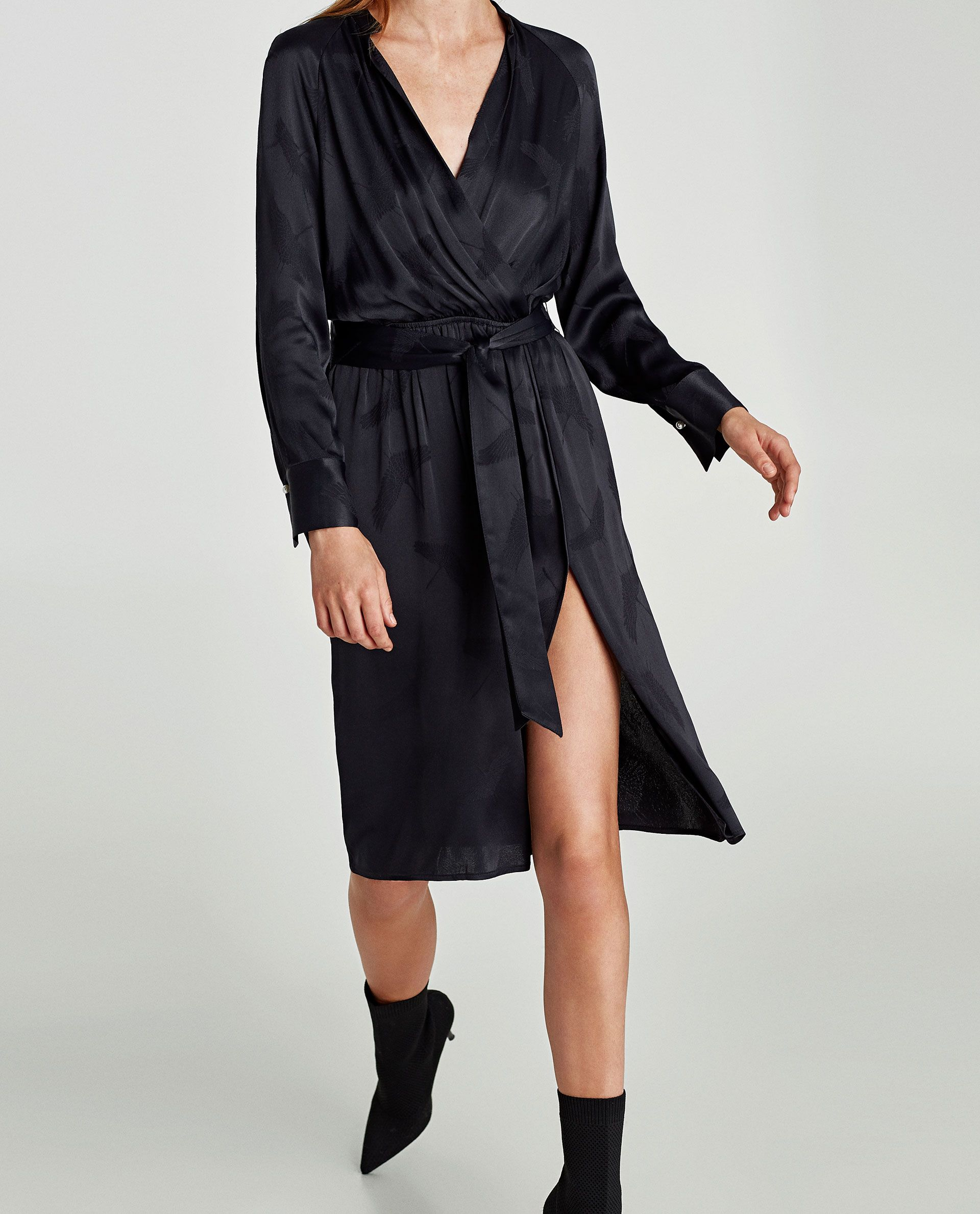 Zara Dan 5 Balikcil Desenli Jakarli Elbise Resmi Checkered Dress Jacquard Dress Clothes Design