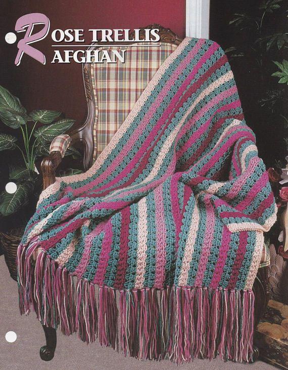 Rose Trellis Afghan Annies Attic Crochet Quilt Afghan Crochet
