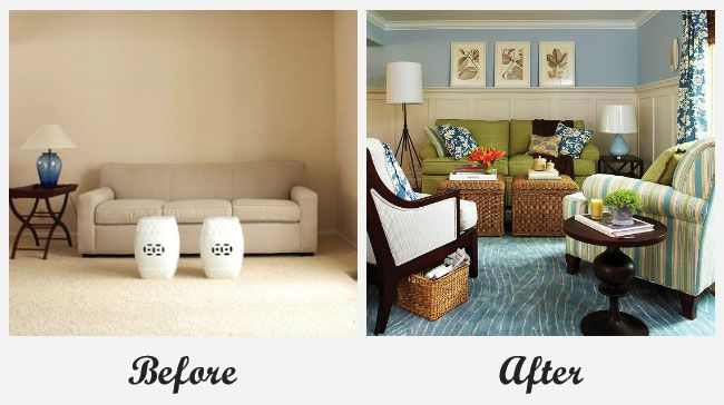 room makeover - living room. for more great before and after room