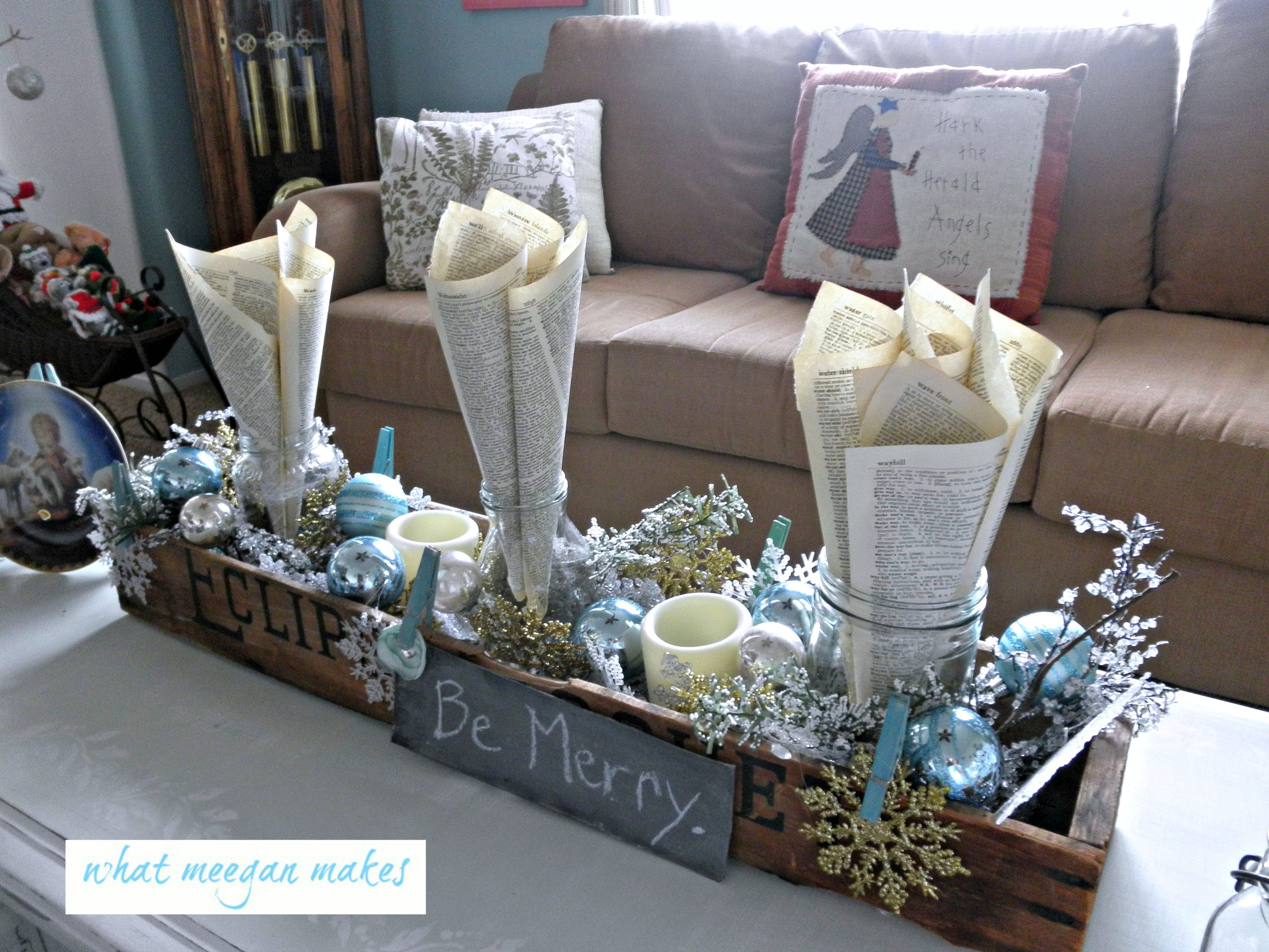 Blue And White Christmas Table Decorations Google Search Christmas Table Decorations Christmas Coffee Christmas Decoration Items
