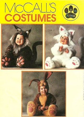 tom arma costume sewing pattern cat rabbit bobcat halloween costumes - Baby Halloween Costume Patterns