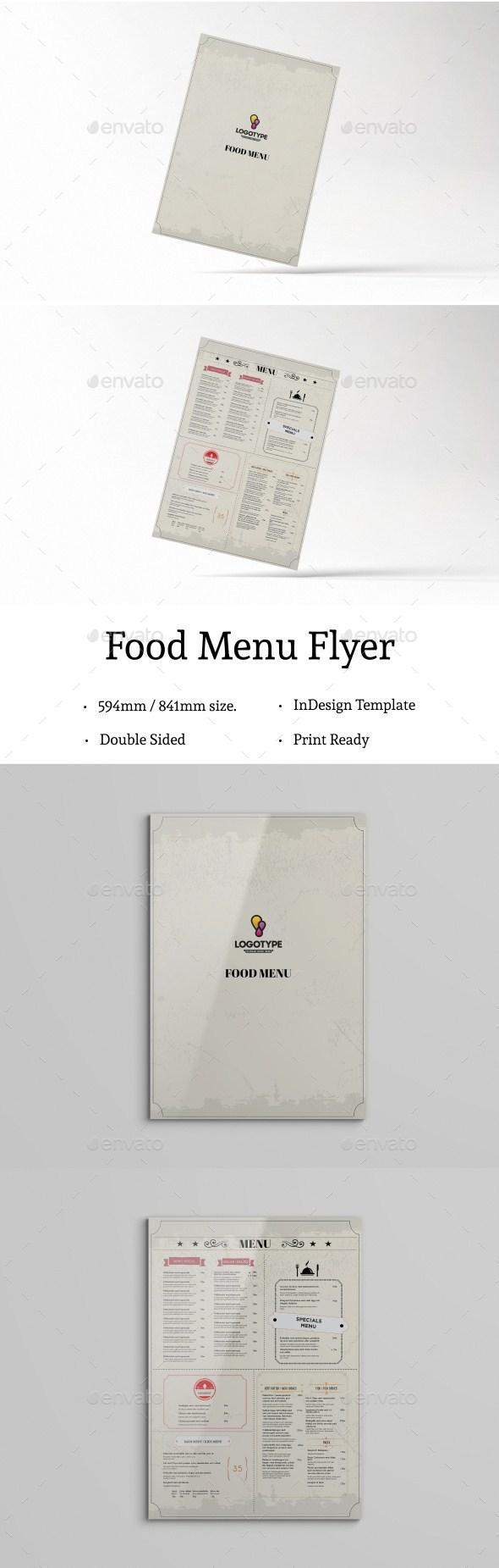 InDesign Food Menu template #minimal food menu #restaurant menu ...