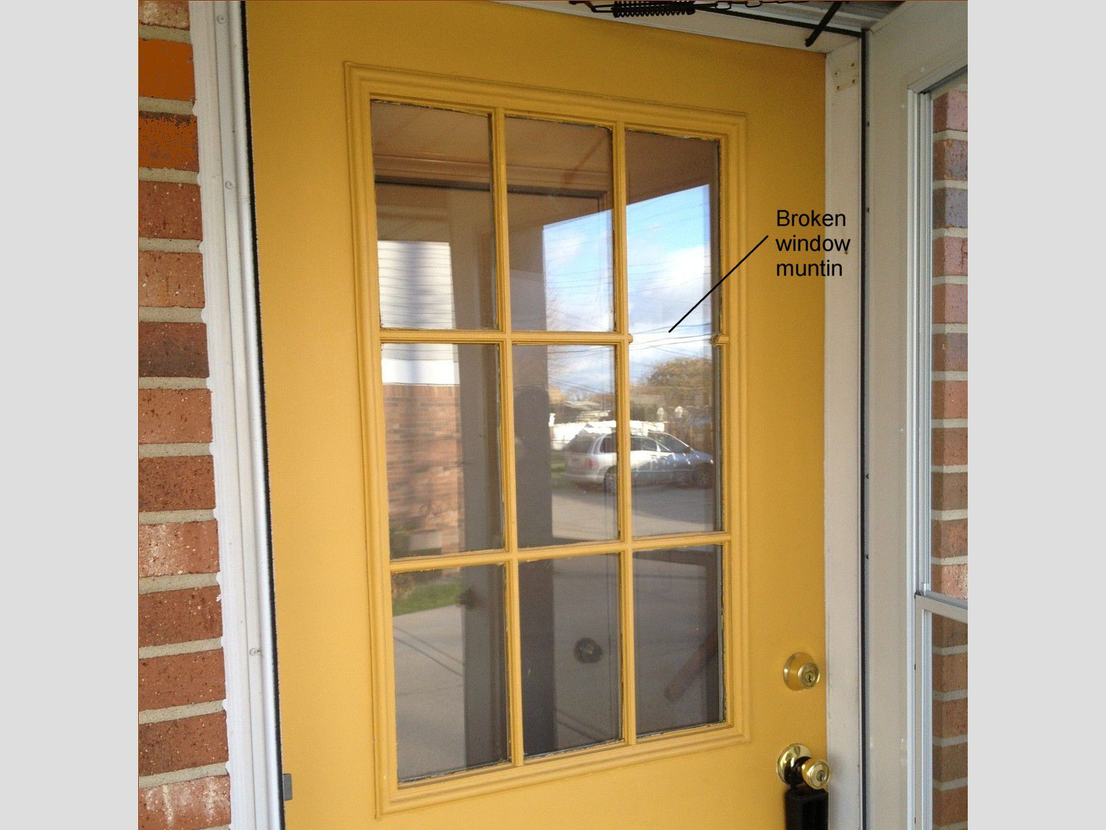 How To Replace A Frame In Gl Door With Fake Divided Lights