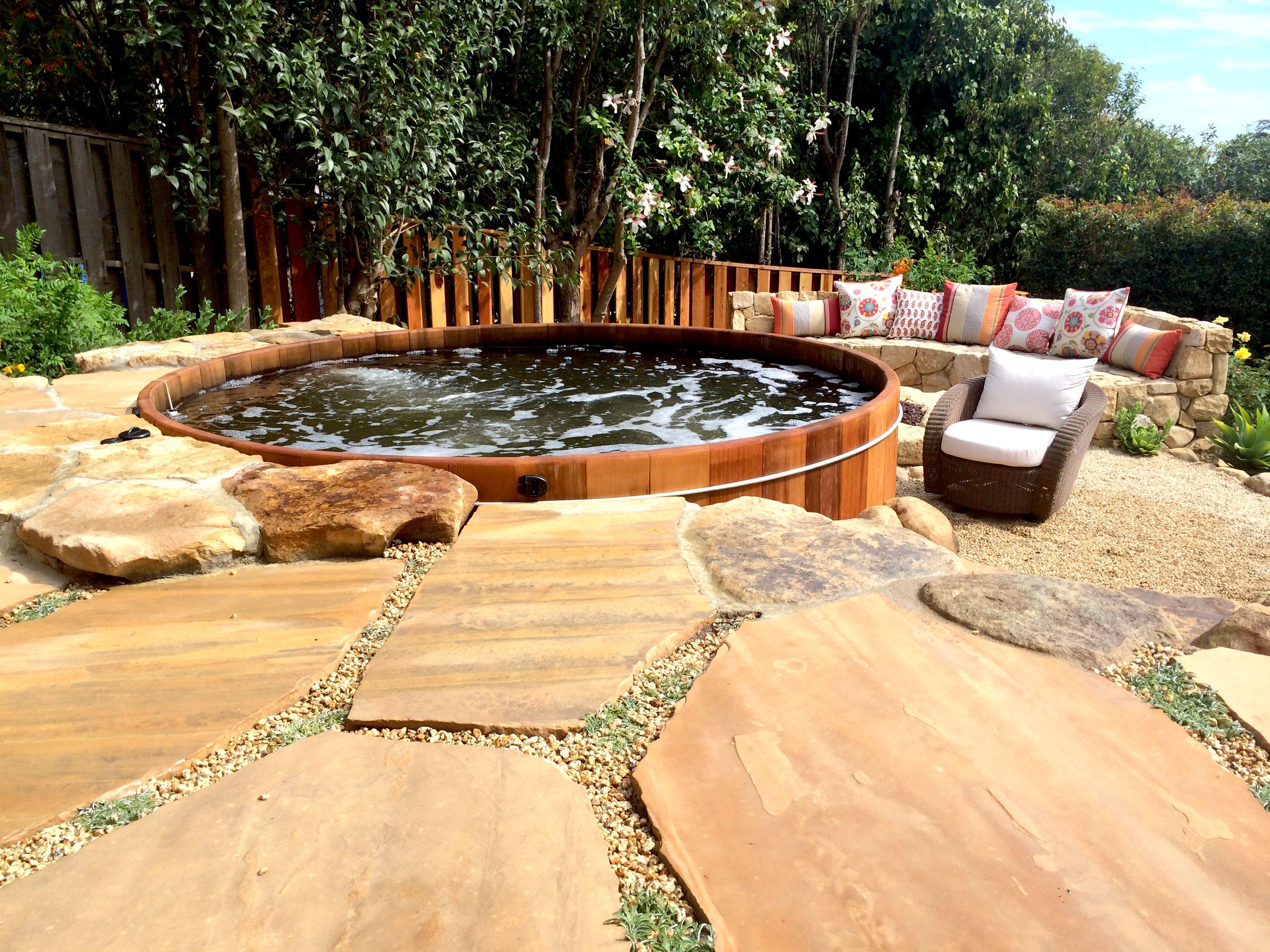 Beautiful Cedar Hot Tub In A Santa Barbara Backyard Www Gordonandgrant