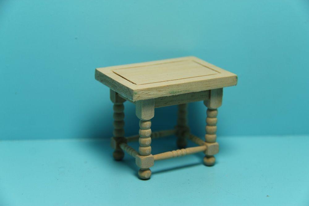 Dollhouse Miniature Unfinished Wood Side Table End Gw013 Aztec