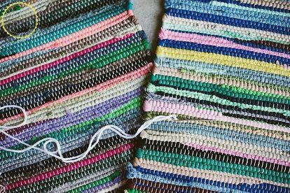 DIY Boho Floor Pillow Using Dollar Store Rugs -   18 diy Pillows throw ideas