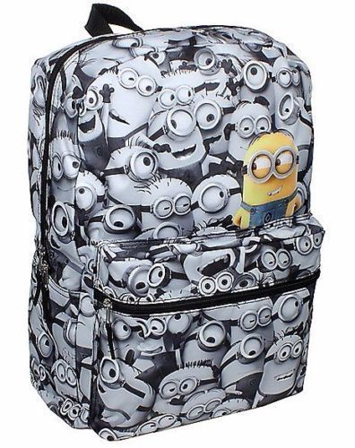 """Despicable Me minion 16/"""" Backpack Minions All-Over Kids School Bag Tote"""
