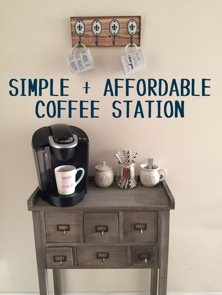 25+ DIY Coffee Bar Ideas for Your Home (Stunning Pictures) | Salon Kuereg Coffee Station Kitchen Ideas Html on