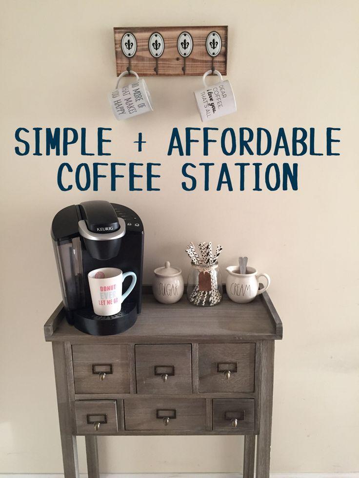 Simple Amp Affordable Drink Station Diy Coffee Bar