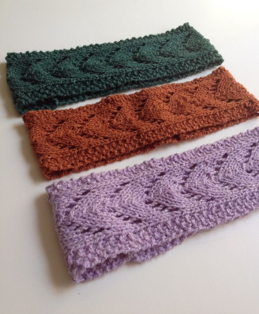 Lacey horseshoe pattern to knit for a great headband or ear-warmer ...