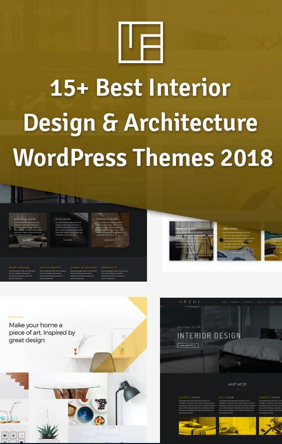 15+ Best Interior Design & Architecture WordPress Themes