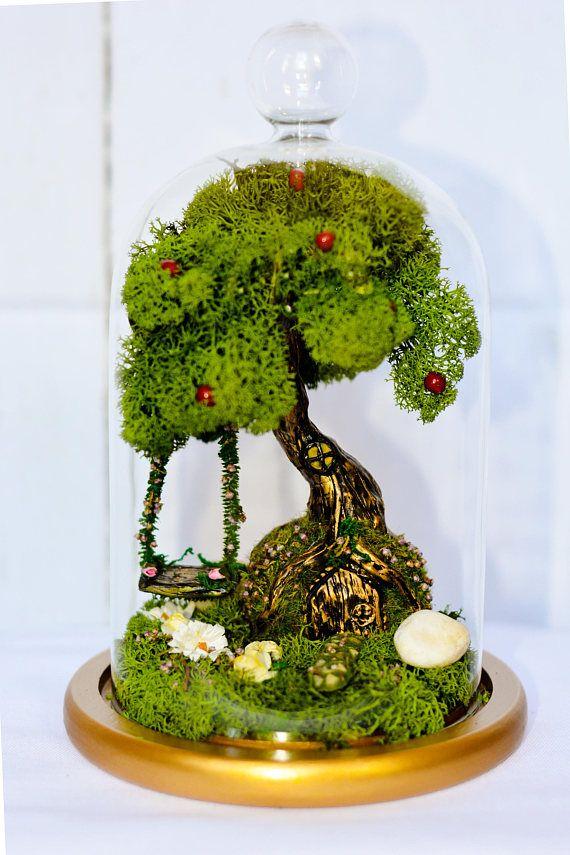 Fairy Garden, Terrarium, Fairy Garden Kit, Fairy Swing