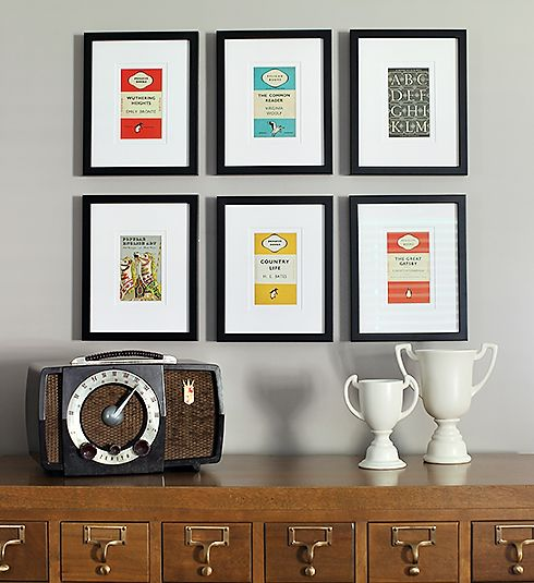 Home made frame made with Penguin book cover postcards for ...