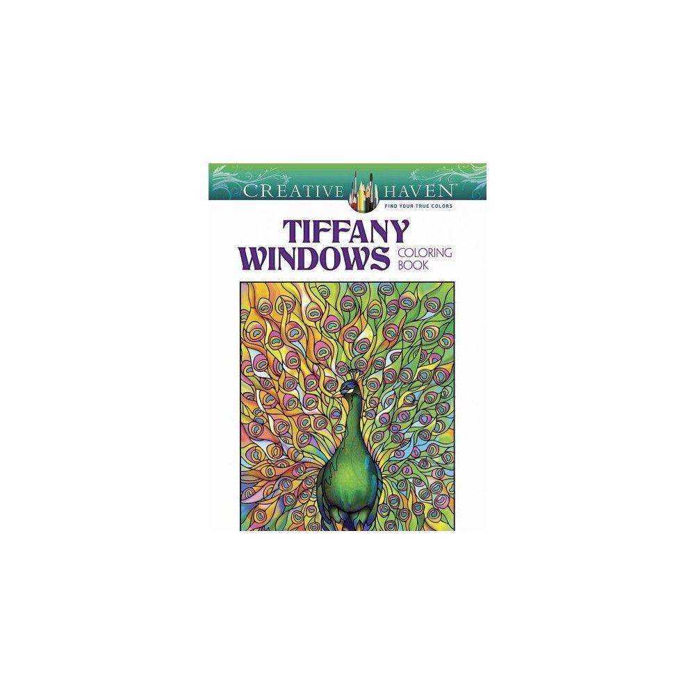 Creative haven tiffany windows coloring book paperback louis