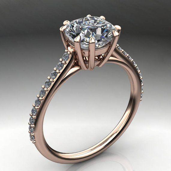 ciara ring – 1 7 carat cushion cut NEO moissanite engagement