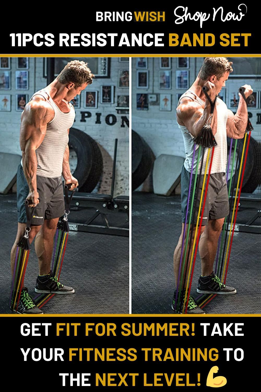 11Pcs Resistance Band Set - Fitness Workout