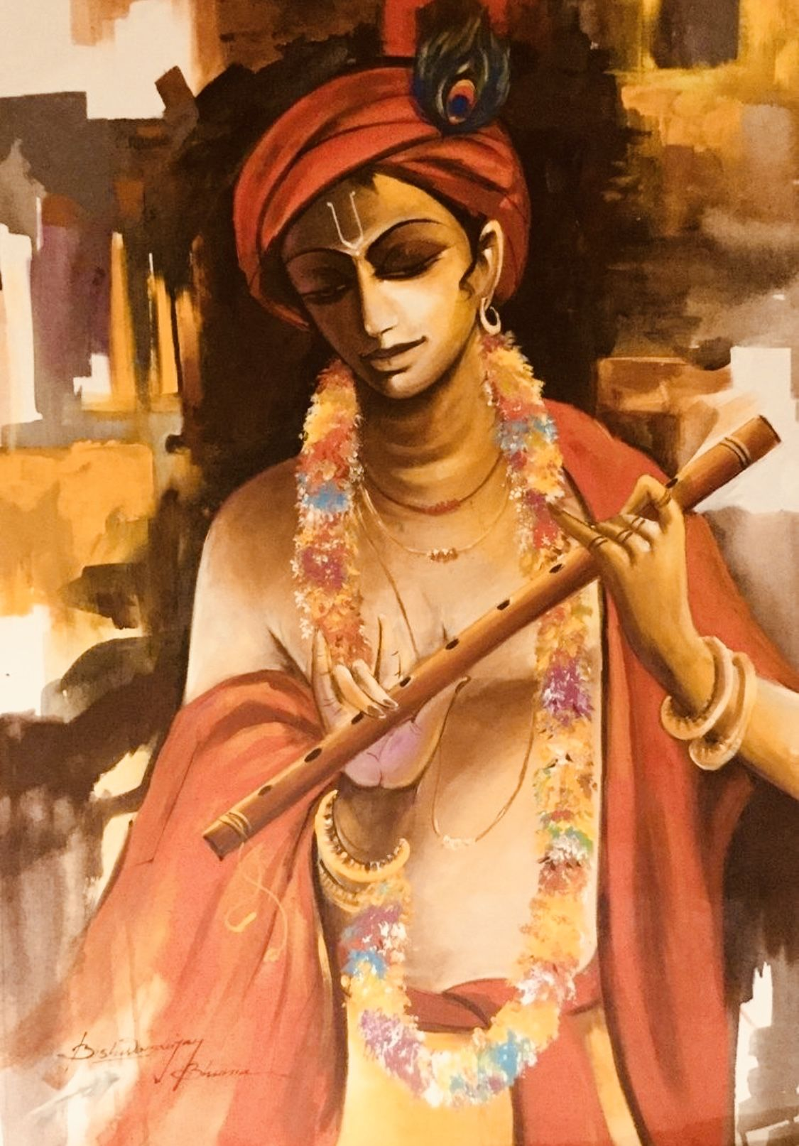 Idea By Suresh Dhawan On Krishna Krishna Painting Krishna Art