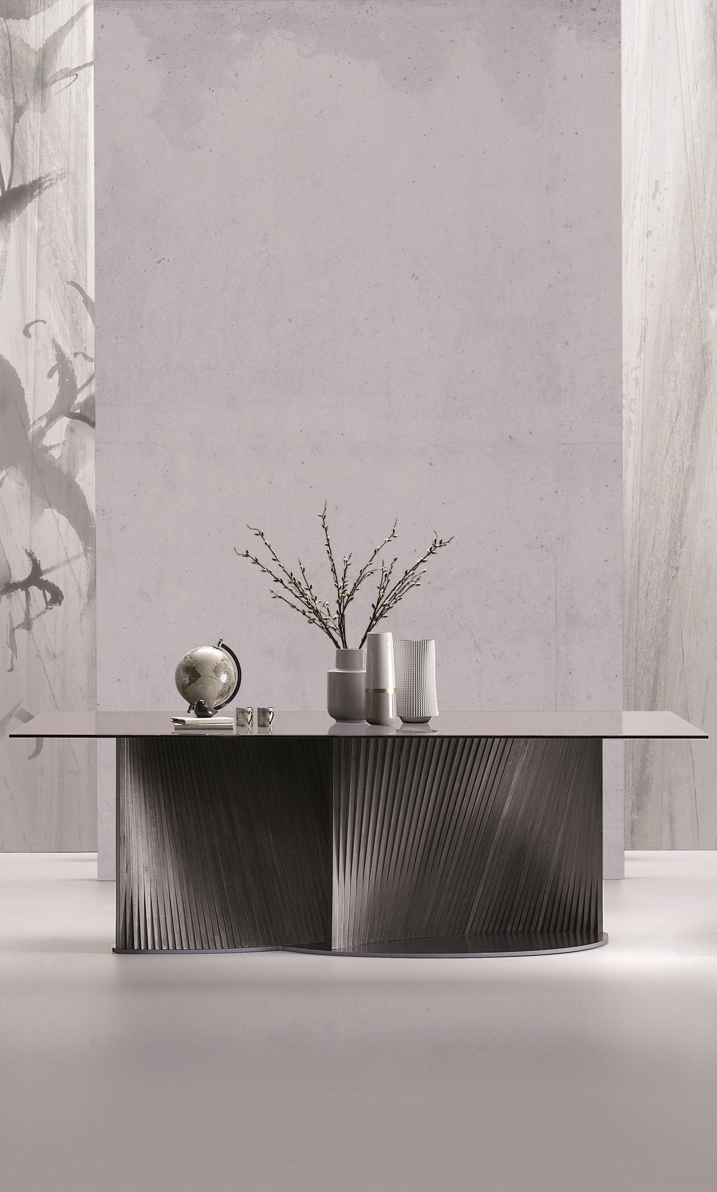 Petal Rectangular Glass Table Furniture Dining Table Glass