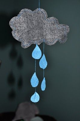 Rain Cloud Out Of Felt Easy Craft For Babysitting