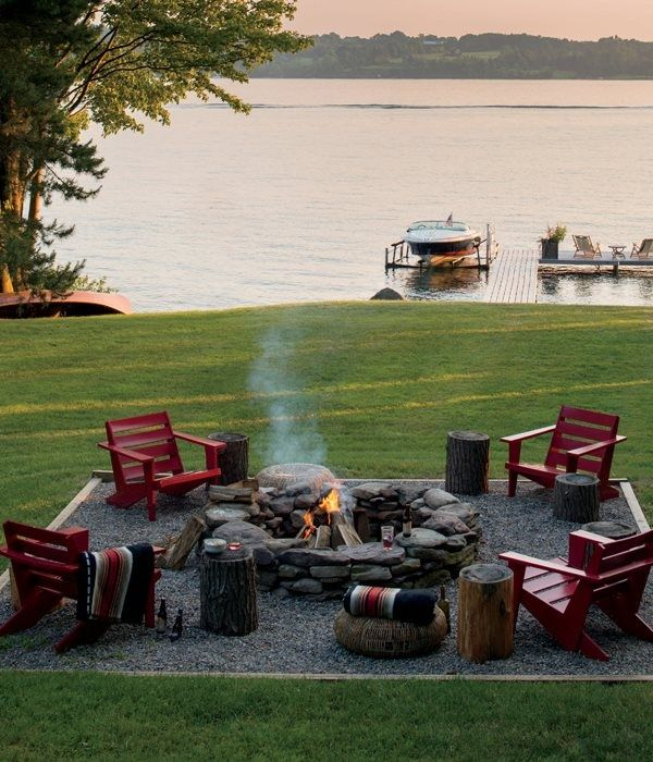 Fire Pit by Lake