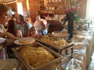 This was a wedding in Cumming featuring a pasta station.