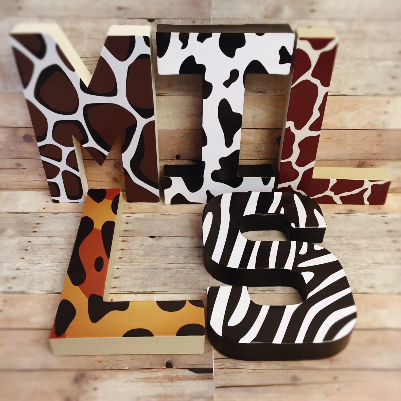 Animal Letters Cheetah Letters Zebra Letters Leopard Letters Giraffe