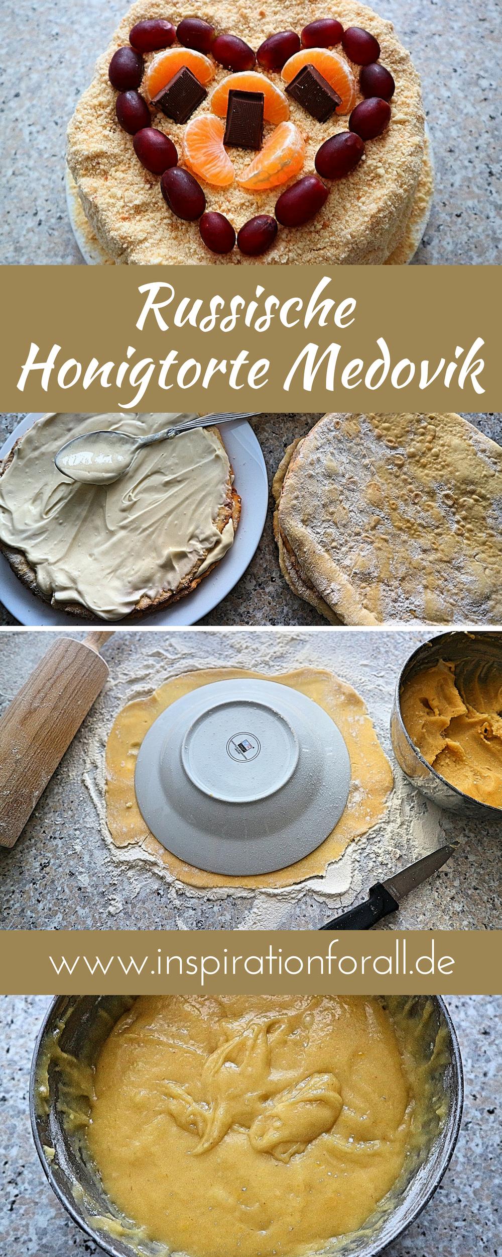 Medovik Rezept Blogger Rezepte Kuchen Honigkuchen Und