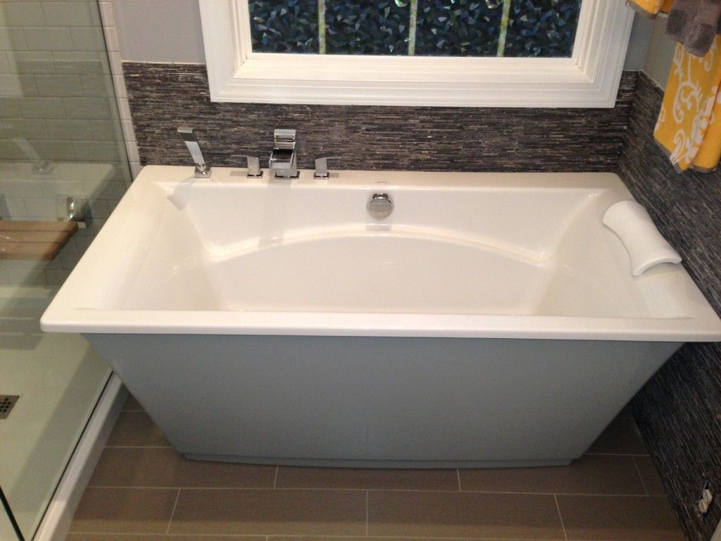 Bathroom, : Bathroom Remodel With Freestanding Tub, Nice Square ...